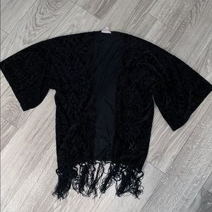 Black velvet Kimono